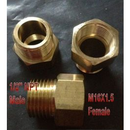 Metric M14 M14X1.5 Female to 5//16 or 8mm Hose ID Barb Fitting Adapter