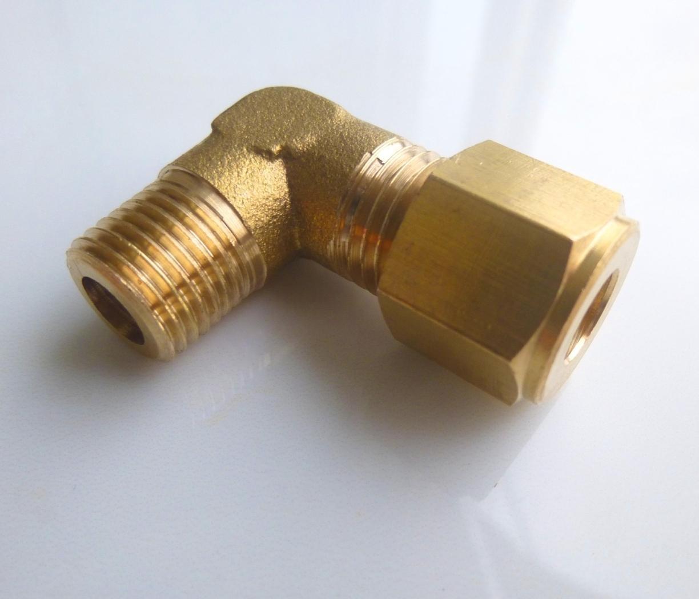 Compression 3//8 OD to 3//8 Hose Barb Fitting Transmission Cooler Line Brass