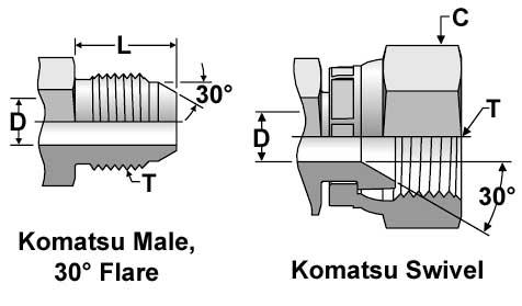 Komatsu Fittings